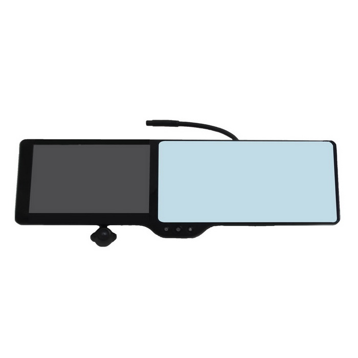 "5 ""TFT LCD Win CE 6.0 GPS 3.0MP coches Gran Angular DVR videocámara w / espejo retrovisor / 7-IR LED / TF"