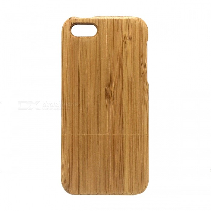 Ultra-Thin Protective Bamboo Voltar para o iPhone 5 - Brown
