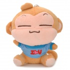 Cute YoCi Monkey Plush Doll Toy w/ Suction Cup - Boy Style (Brown + Blue)