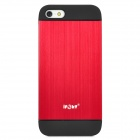 Protective Aluminum Alloy + PC Case for iPhone 5 - Black + Red