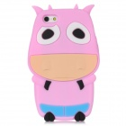 Cartoon Cow Style Protective Silicone Case for Iphone 5 - Pink