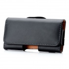 Protective PU Leather Case w/ Belt Clip for Samsung S6802 Galaxy Ace Duos - Black