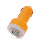 Dual USB 1A / 2.1A Car Cigarette Charger for iPad Mini + More - Orange