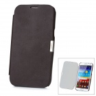 Protective PU + PC Back Case for Samsung N7100 Galaxy Note 2 - Deep Coffee
