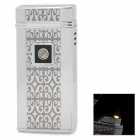 HONEST QQ-BCZ290 Touch-Induction Stahl + Alu Butangas Windproof Lighter - Silber