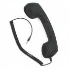 AP-008 Radiation Prevention Retro Telephone Style Headset for iPhone 4 - Black (3.5mm Plug)