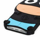 Cartoon Cow Style Protective Soft Silicone Back Case for Iphone 5 - Black