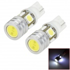 LY144 3W 148lm 6000K 5 5050 SMD + High-power LED White Light Car Width Lamp (2 PCS / 12V)
