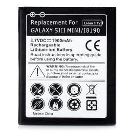 """Replacement """"1900mAh"""" 3.7V Battery for Samsung Galaxy i8190 - Black"""