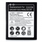 "Replacement ""1900mAh"" 3.7V Battery for Samsung Galaxy i8190 - Black"