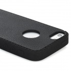 Protective Soft Silicone Case w/ Cover for iPhone 5 - Black