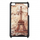 Eiffel Tower Style Protective Plastic Back Case for iPod Touch 4 - Black + Brown