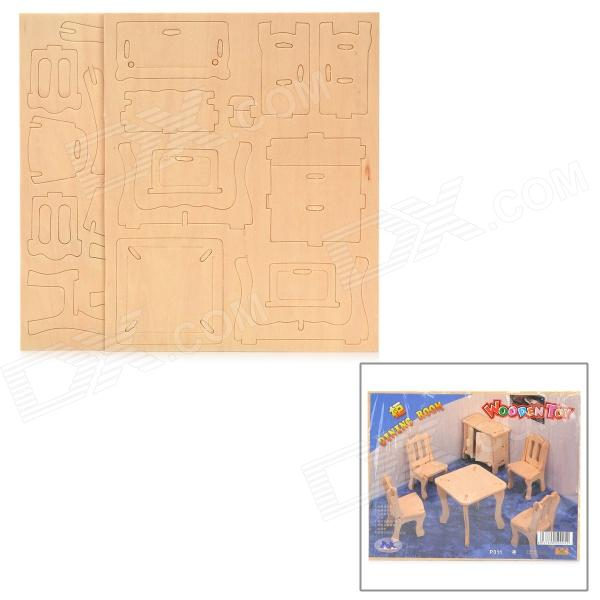 3D Simulation Woodcraft Construction Kit Furniture Set