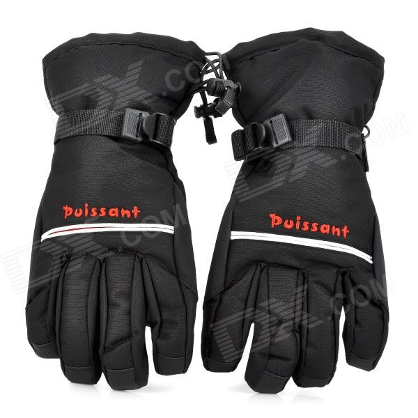 Winter Warm Full Finger Ski Gloves for Men - Black (Free Size / Pair) товары для дома