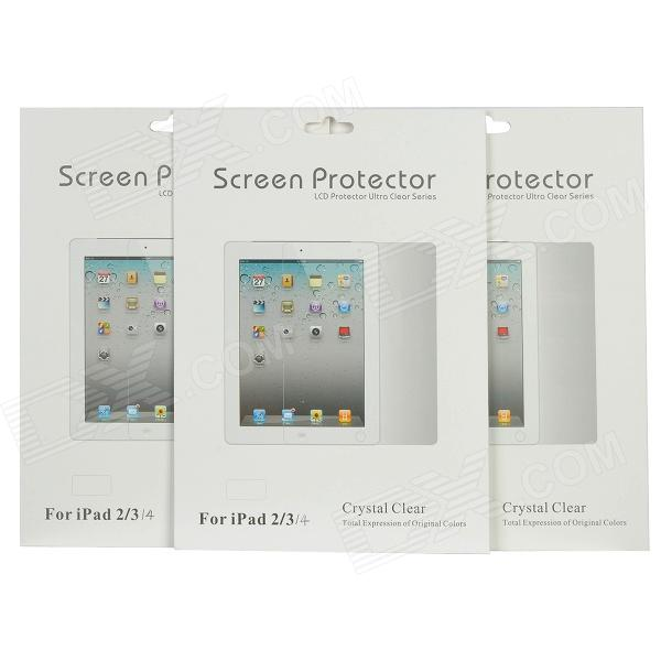 Protective Ultra Clear Screen Protector Guard Film for Ipad 2 / the New Ipad / Ipad 4 (3 PCS)