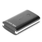 Multifunction 5000mAh Wireless Wi-Fi Router Portable Power Bank - Black