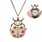 Ladybug Style Analog Quartz Pocket Watch - Copper + Red (1 x 377)