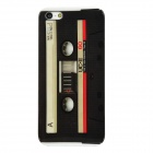 Retro Cassette Tape Style Protective Hard Plastic Back Case for Iphone 5 - Black