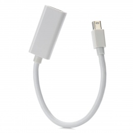 CY DP-058 Mini DisplayPort DP to HDMI v1.2 Data Cable - White (10cm)
