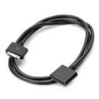 CY IP-099 Apple 30 Pin Male to Apple 30 Pin Female Extension Charging & Data Cable - Black (100cm)