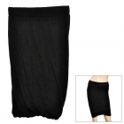 Fashionable Lady's Elastic Short Straight Skirt - Black (Free Size)