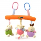 Cute Colorful Animals Style Baby Bed Hanging / Surrounding Music Velvet Toys