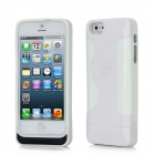 2200mAh Rechargeable External Power Bank Charger w/ USB Cable for iPhone 5 - White