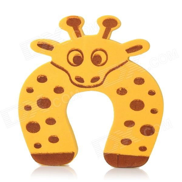 XG01 Lovely Giraffe Style PVC Door Stop - Yellow