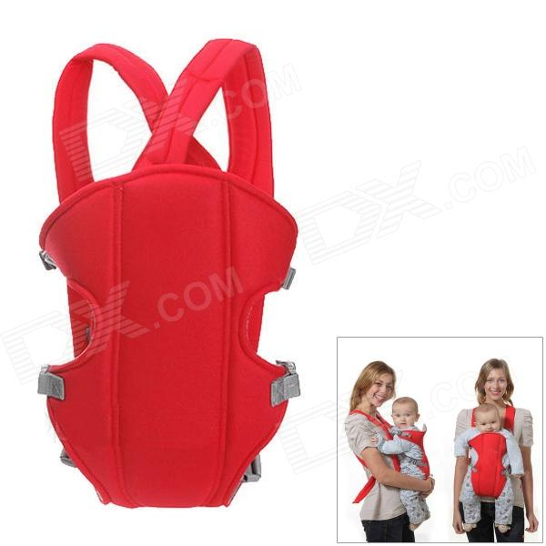 Multi-Function Portable Comfortable Cotton Baby Carrier Sling Bag - Red