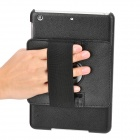 Handheld 360 Degrees Protective PU Leather + Plastic Back Case for Ipad MINI - Black
