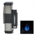 3-Flame Jet Torch Butane Lighter - Black + Silver