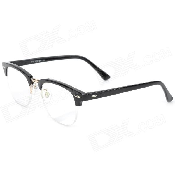 Old Man 100 619 Retro 250 Degrees Resin Lens PC Frame Reading Glasses - Black old man 100 619 retro 250 degrees resin lens pc frame reading glasses black