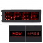 JR-7x24-R Programmable Rechargeable LED Name / Message / Advertising Tag Badge - Red Light