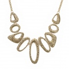 Irregular Round Shape Zinc Alloy Chain + Pendant Necklace - Golden