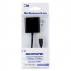 CY DP-059 Active Eyefinity Mini DisplayPort to HDMI Adapter Cable - Black (10cm)