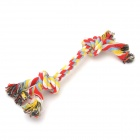 YSDX-660 Colorful Cotton Tug / Teeth Grinding / Cleaning Knot Pet Toy for Dogs