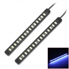 Buy 1.5W 225lm 6000~6500K 15-5630 SMD LED White Light Car Daytime Running Lamp - Black (/ 12V)