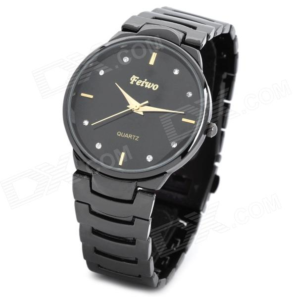 Feiwo  Casual Lady's Analog Quartz Wrist Watch - Black (1 x 377) feiwo 8090g alloys plating analog quartz wrist watch for men black golden silver page 1