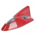 YuanQiang Solar Powered Shark Fin Style Car 6-LED Antenna Warning Light - Red