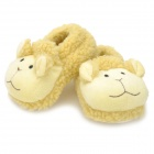 0209 Cute Cartoon Sheep Style Baby Anti-Slip Cotton + Polyester Shoes - Yellow (Pair / 11cm)