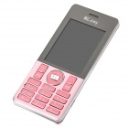 "A50 GSM Bar Phone w/ 2.4"" Screen, Dual-Band, Dual-SIM and Bluetooth - Pink + Silver"