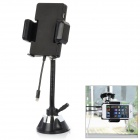 "1.2"" LCD FM Transmitter w/ Car Cigarette Charger / Suction Cup for iPhone 5 / iPod Touch 5 - Black"