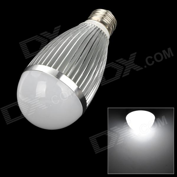 E26 9W 810lm 6500K White 18-SMD 5730 LED Light Bulb - Silver + White (85~265V) e27 9w 9 led 810 lumen 6000k white light bulb 85 265v ac