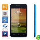 "T6198 Android 2.3 GSM Bar Phone w/ 4.3"" Capacitive Screen, Dual-Band, Wi-Fi and Dual-SIM - Blue"