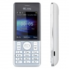"A50 GSM Bar Phone w/ 2.4"" Screen, Dual-Band, Dual-SIM and Bluetooth - White + Silver"
