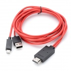 CY MH-027 Micro USB MHL to HDMI Data Cable for Samsung Galaxy S III - Red (200cm)