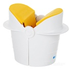 Portable Mini Manual ABS Egg Cracker - White + Orange