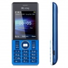 "A50 GSM Bar Phone w/ 2.4"" Screen, Dual-Band, Dual-SIM and Bluetooth - Blue + Silver"