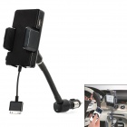 "1.2"" LCD Car Charging FM Transmitter w/ Remote Controller for iPhone 4 / 4S / 3GS / 3G - Black"
