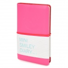 Mini Smiley Diary Notebook Notepad - Deep Pink